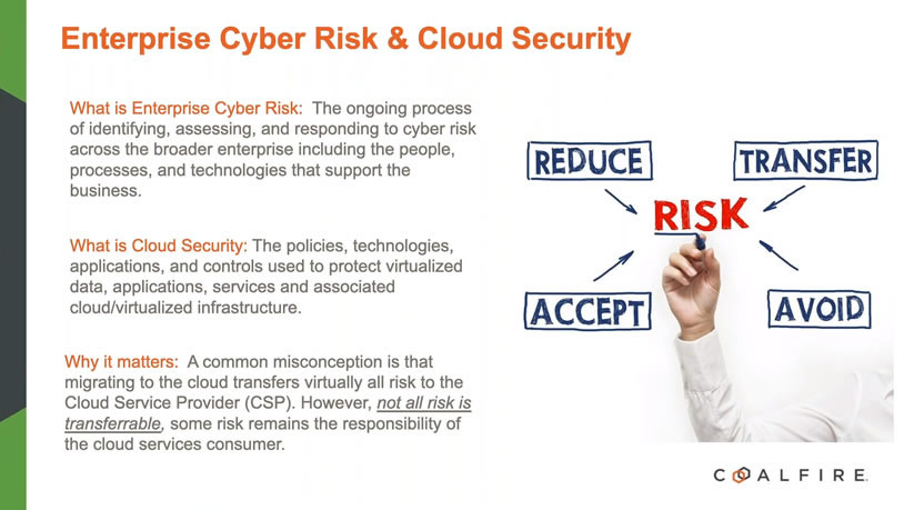 Enterprise Cyber Risk and Cloud Security