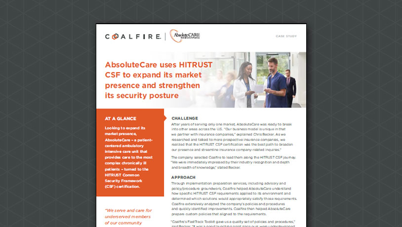 AbsoluteCare uses HITRUST CSF to expand its market presence and strengthen its security...