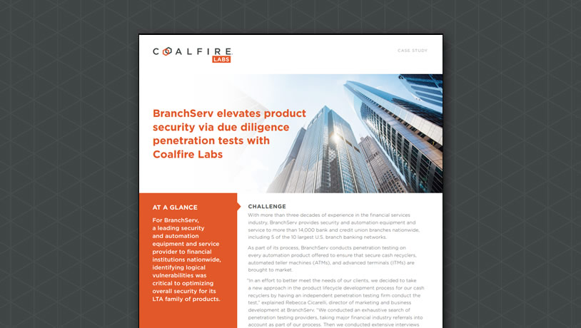 BranchServ elevates product security via due diligence penetration tests with Coalfire Labs