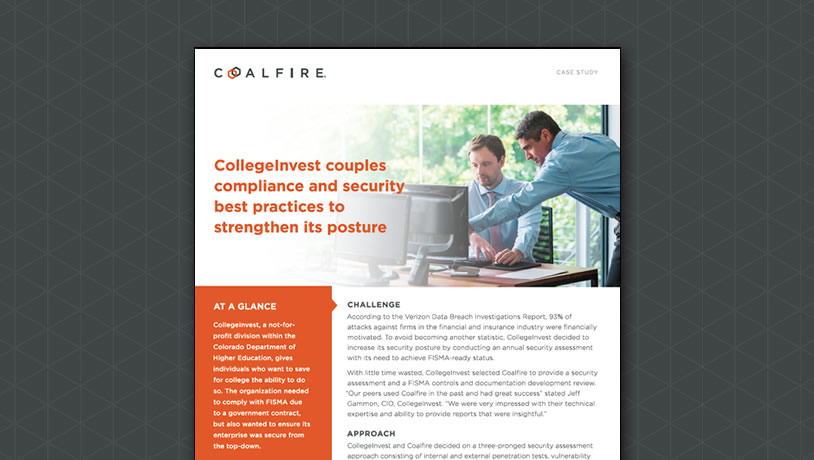 CollegeInvest couples compliance and security best practices to strengthen its posture