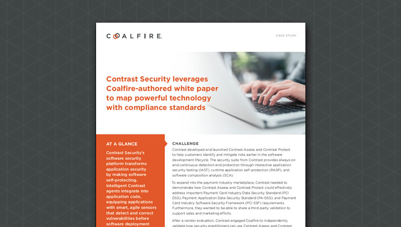 Contrast Security leverages Coalfire-authored white paper to map powerful technology with compliance