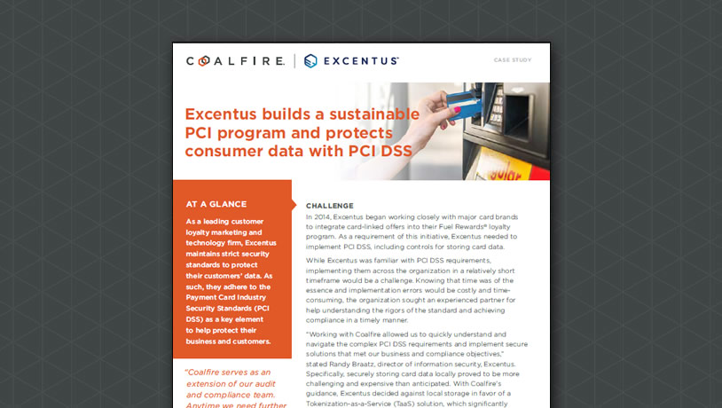 Excentus builds a sustainable PCI program and protects consumer data with PCI DSS
