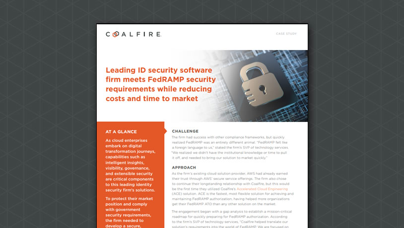 ID security software firm reduces costs and time to market for FedRAMP on AWS