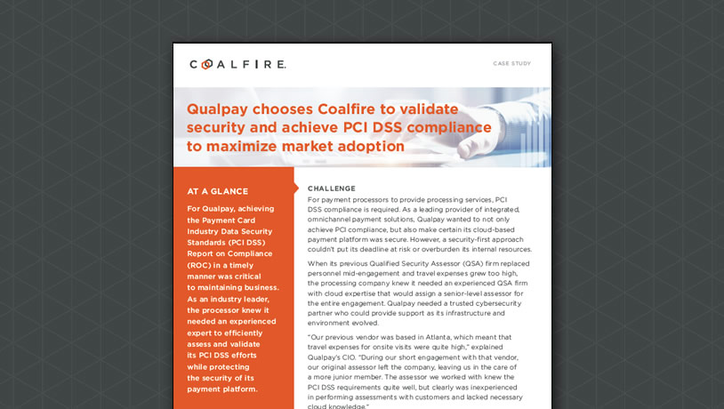 Qualpay chooses Coalfire to validate security and achieve PCI DSS...