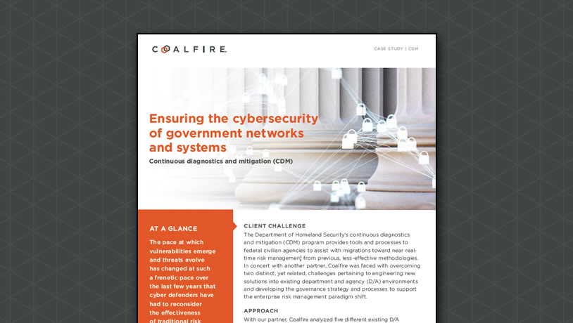 Ensuring the cybersecurity of government networks and systems