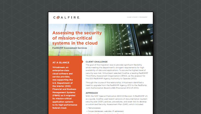 Assessing the Security of mission-critical systems in the cloud
