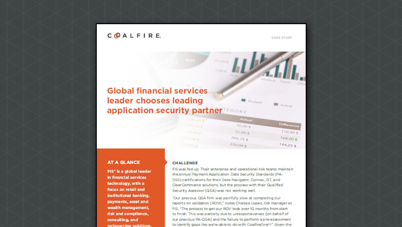 Global financial services leader chooses leading application security partner