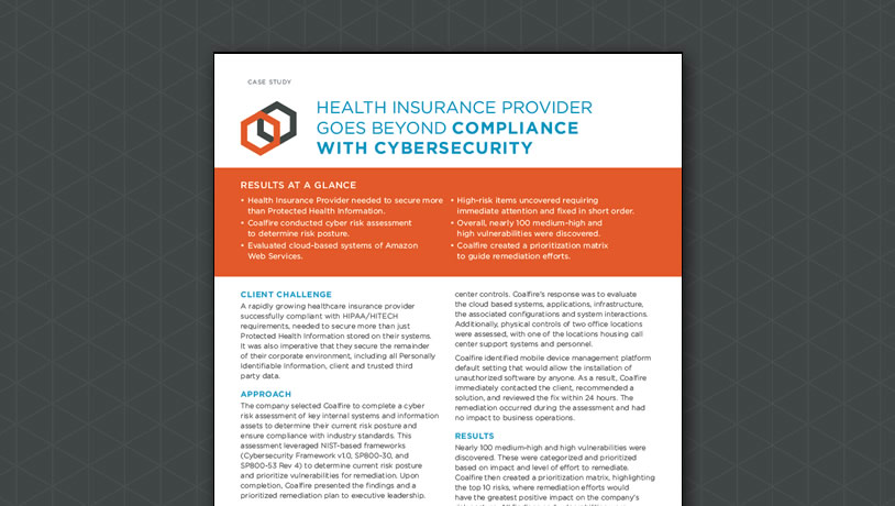 Health Insurance Provider Goes Beyond Compliance with Cybersecurity