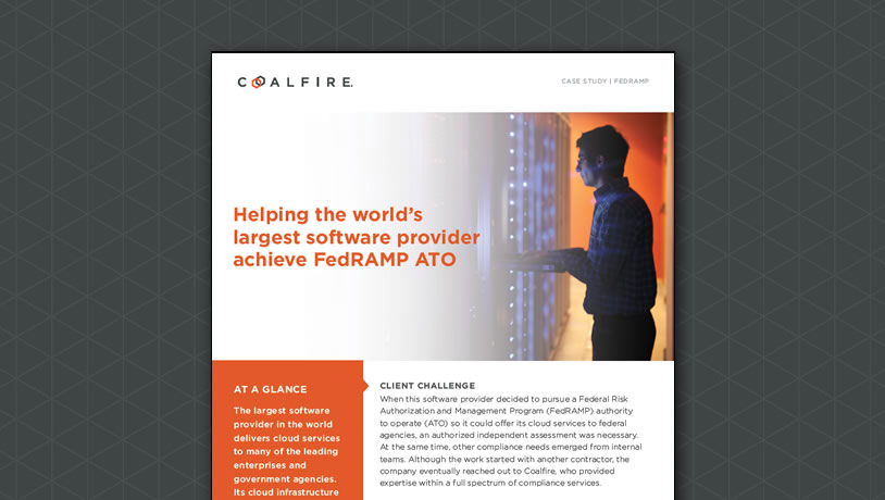 Helping the world's largest software provider achieve FedRAMP ATO