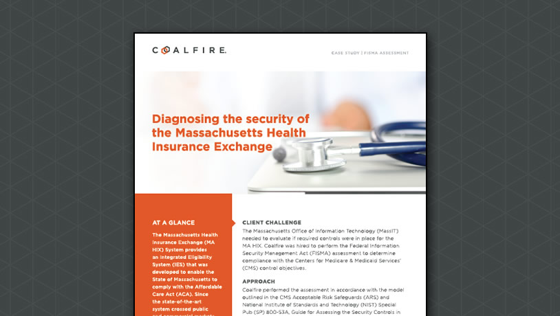 Diagnosing the security of the Massachusetts Health Insurance Exchange