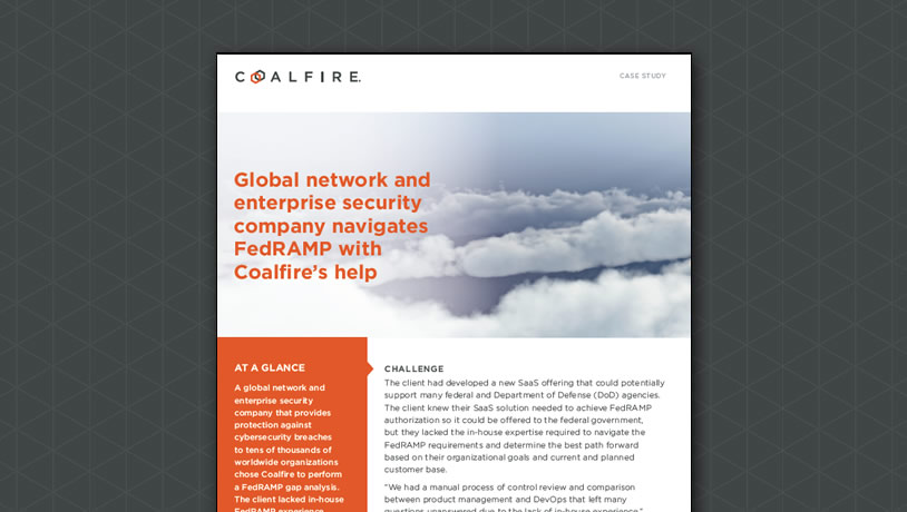 Coalfire helps enterprise security company navigate FedRAMP