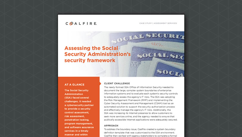 Assessing the Social Security Administration's security framework