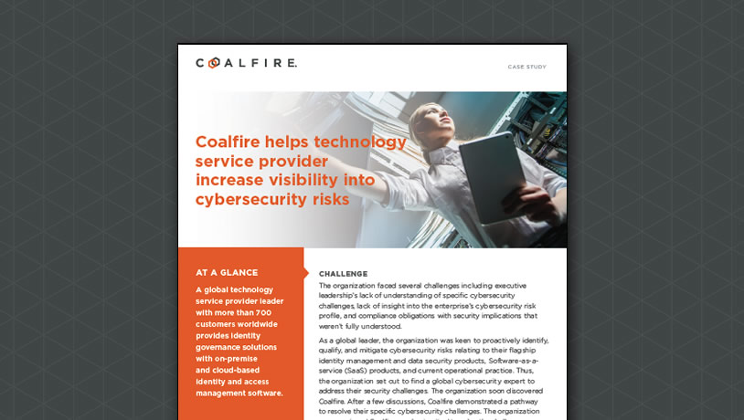 Technology service provider increases cybersecurity risk visibility