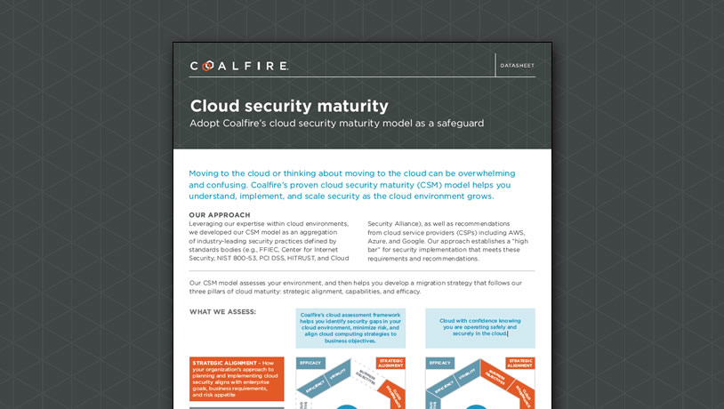 Cloud security maturity