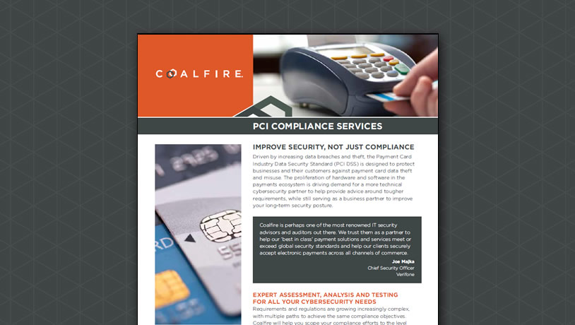 Coalfire PCI Compliance Services