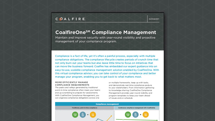 CoalfireOne Compliance Management