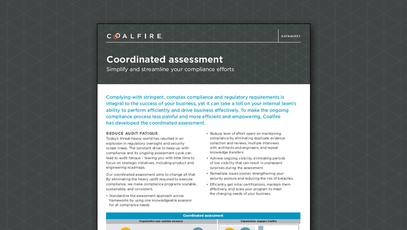 Coordinated assessment