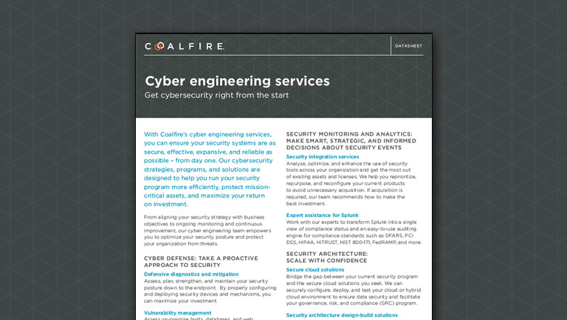 Cyber engineering services