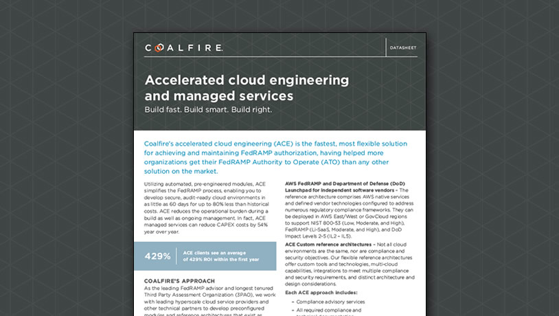 Accelerated cloud engineering (ACE) for FedRAMP