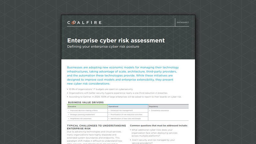 Enterprise cyber risk assessment