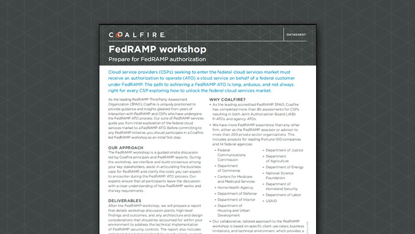 FedRAMP workshop - prepare for FedRAMP authorization