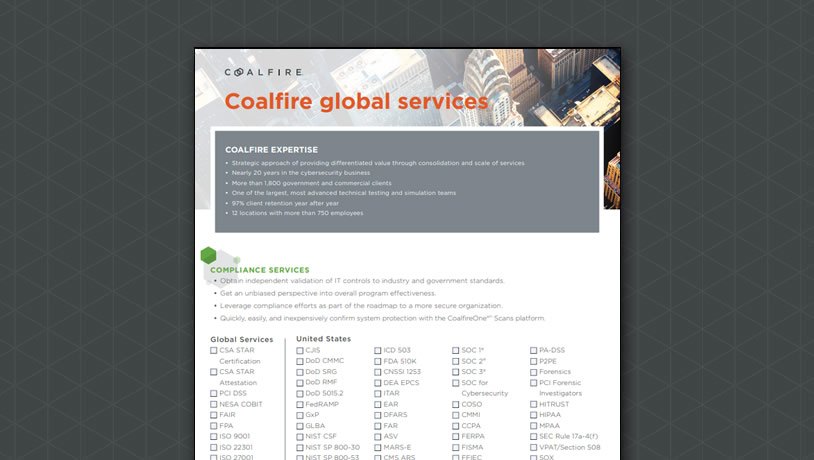 Coalfire global services