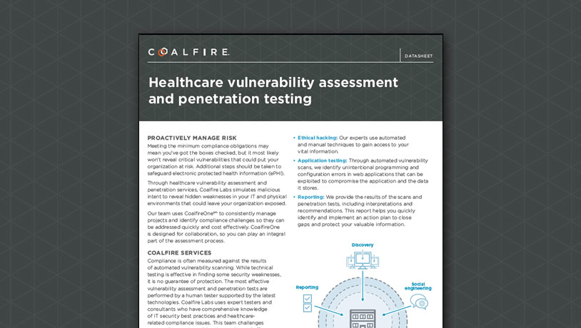 Healthcare vulnerability assessment and penetration testing