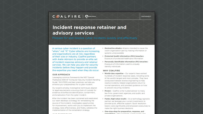 Incident Response Retainer and Advisory Services