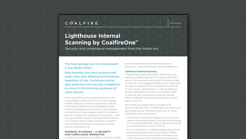 Lighthouse Internal Scanning by CoalfireOne