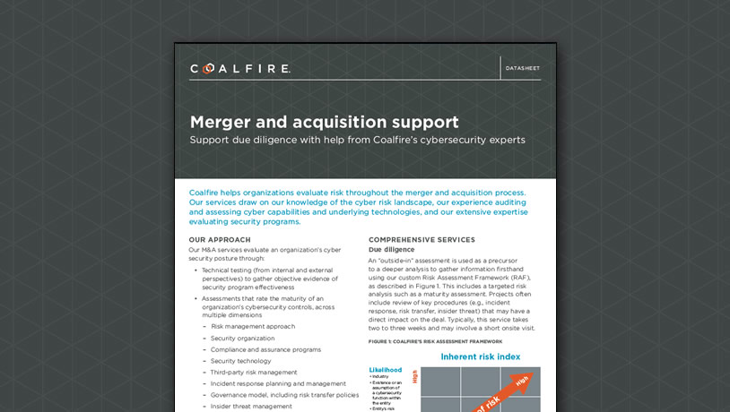 M&A Due Diligence Support