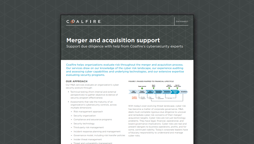 Merger and acquisition support