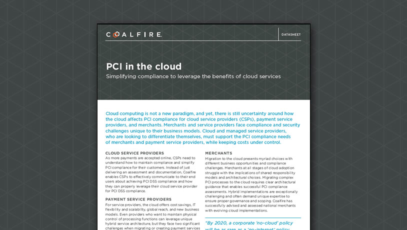 PCI in the cloud