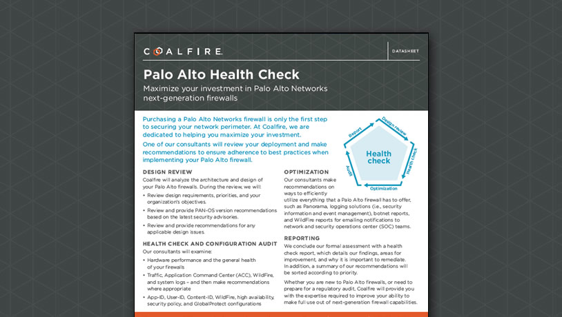 Palo Alto Health Check