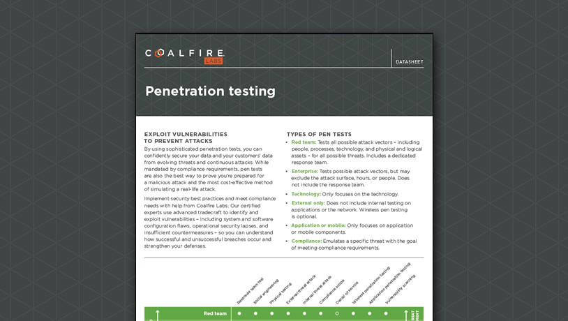 Penetration testing - Exploiting vulnerabilities to prevent real attacks