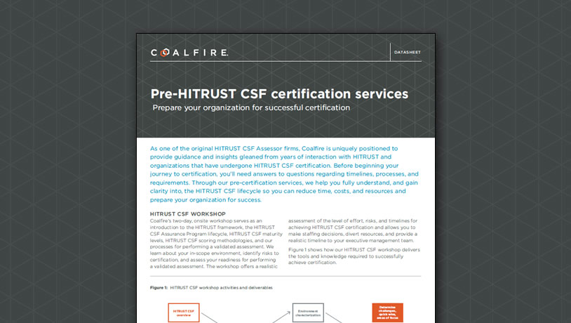 Pre-HITRUST CSF certification services