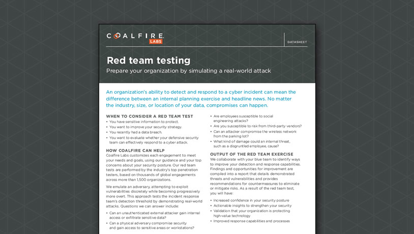 Red Team Testing