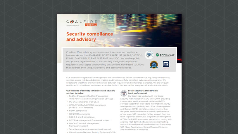Coalfire - Independent cyber risk management and compliance
