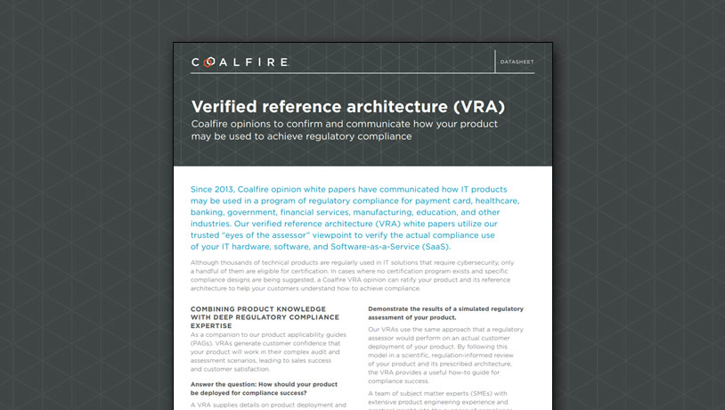 Verified reference architecture (VRA)