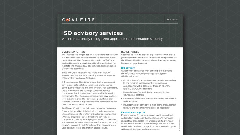 ISO advisory services