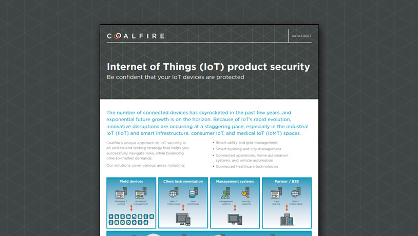 Internet of Things product security