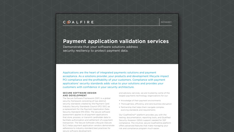Payment Application (PA-DSS) Compliance Services