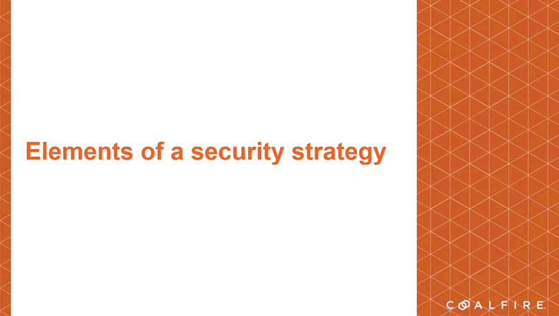 Elements of a security strategy