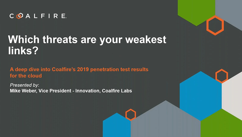 A deep dive into Coalfire's 2019 penetration results for the cloud