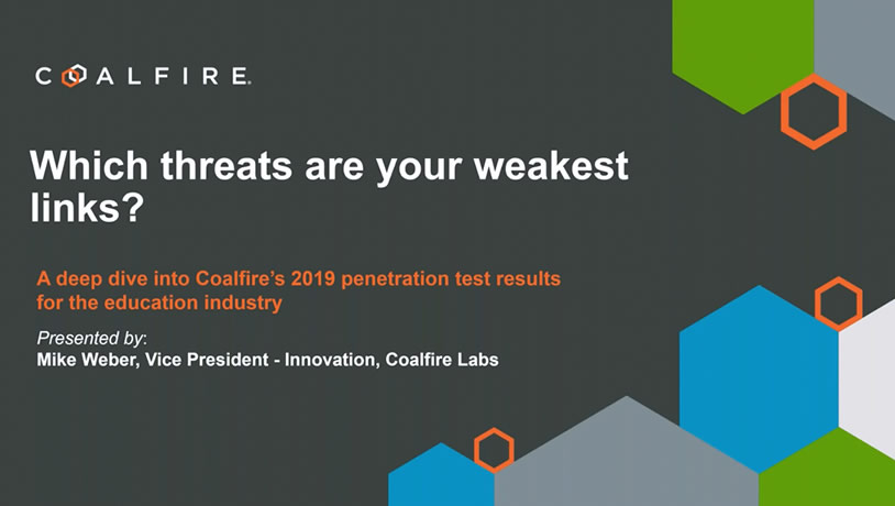 A deep dive into Coalfire's 2019 penetration results for education
