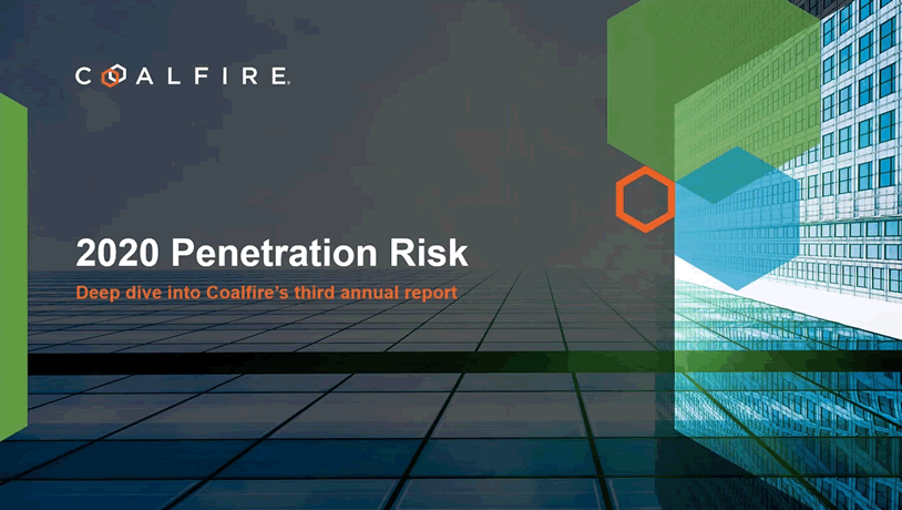 2020 Penetration Risk Deep Dive - Coalfire's 3rd Annual Report