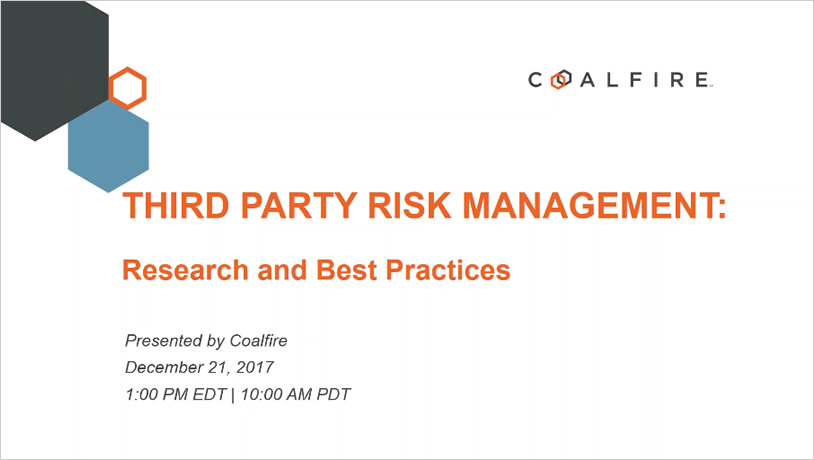 Third Party Risk Management: Research and Best Practices