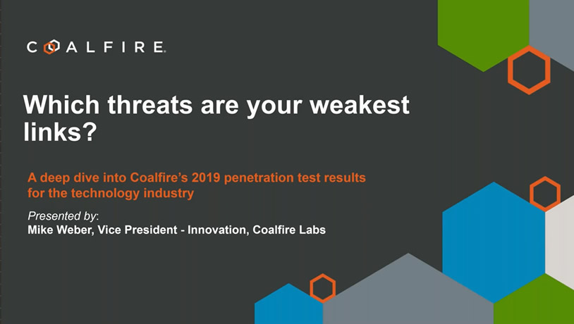 A deep dive into Coalfire's 2019 penetration test results for technology