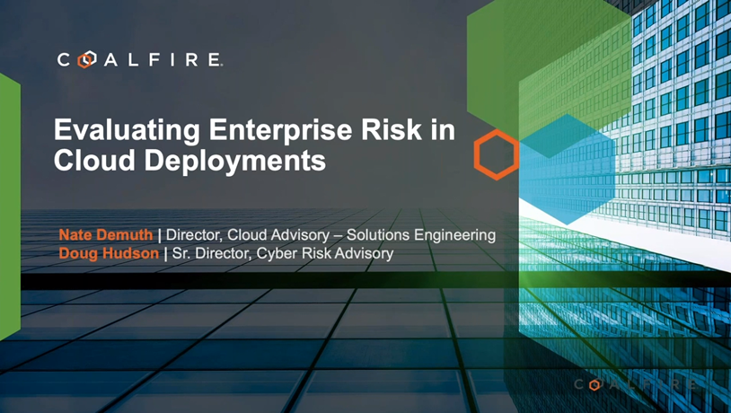Evaluating enterprise risk in cloud deployments