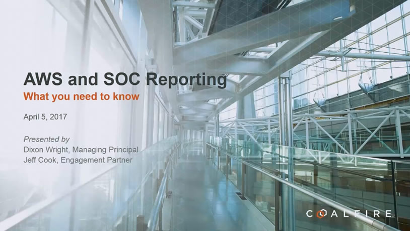 AWS and SOC Reporting, what you need to know