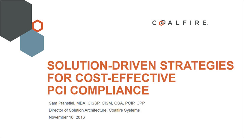 Solution-driven Strategies for Cost-Effective PCI Compliance